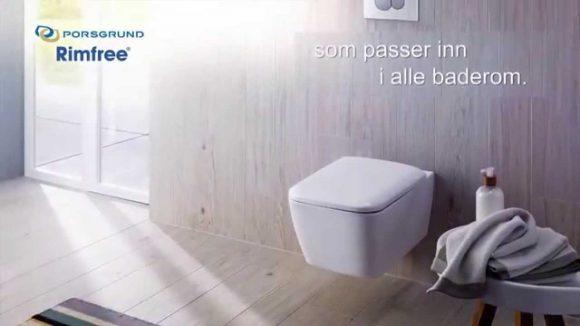 Vegghengt Toalett fra Porsgrund