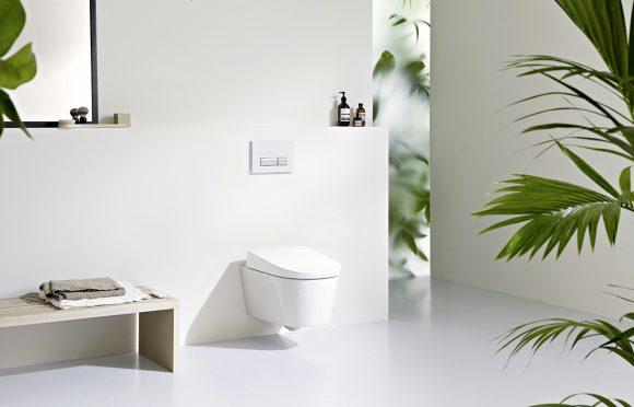 Vegghengt toalet fra Geberit Aquaclean