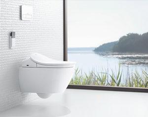 Lekkert og vegghengt toalett fra Villeroy og Boch.