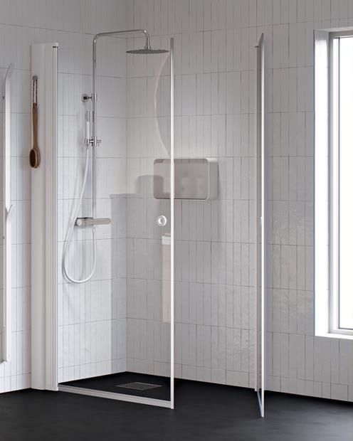 Eølegant oppbevaring i dusjen