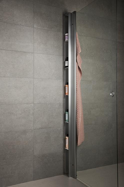 smart innebyget oppbevaring til dusjhjørnet fra INR