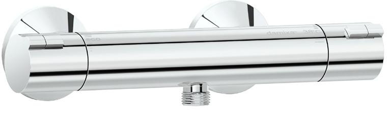 Mini luxe-dusjtermostat fra Damixa
