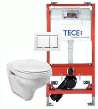 komplett pakke for vegghengt toalett